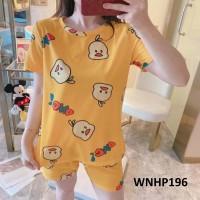Baju Tidur Wanita Duck OMG Yellow