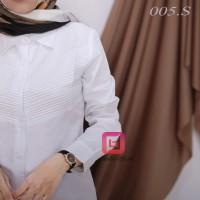 Kemeja Putih Wanita - Kemeja Kerja Wanita - Baju Kantor Lengan Panjang