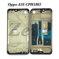 FRAME LCD - TULANG LCD HP - TATAKAN LCD FOR OPPO A3S CPH1803 - Hitam
