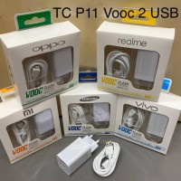 CHARGER VOOC OPPO/SAMSUNG/XIAOMI/VIVO/ASUS MICRO USB 4A 2 USB P-11