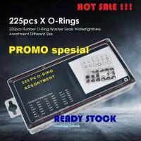ST ORING SEAL KARET BLACK NITRILE RUBBER 225 PCs O RING SEAL GASKET