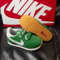 Sepatu Nike Waffle Hijau White Velcro For Kids Terkini