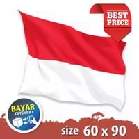 Bendera Republik Indonesia 1 Pcs - Bahan Satin - 60 x 90 cm