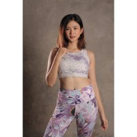 Baju Olahraga Senam Wanita Sport Bra Cewe Fitness Yoga Floral 06CCC002