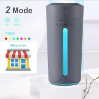 Diffuser Humidifier Aromaterapi Lampu Mobil - Ruangan 2in1 - Black