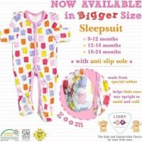 Libby Sleepsuit Jumper Tutup Kaki Bayi Perempuan Laki Laki isi 3pcs