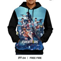 Jaket Hoodie Free Fire Games DEWASA #JFF-04