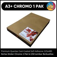 BAHAN A3+ Sticker Stiker Chromo Cromo Premium Quantac