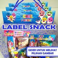 GOODIE BAG PLASTIK TEMA BABY SHARK ULTAH / ULANG TAHUN LEBAR 20CM