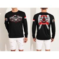 Dave Fashion- Kaos Distro LENGAN PANJANG RX KING SAYAP Black FN222