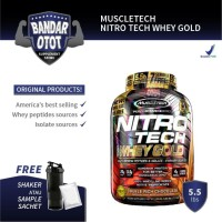 MUSCLETECH Nitrotech Whey Gold 5.5 lb Muscle Nitro Tech lbs MT Ori