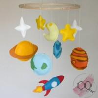 Mainan Gantungan Box Bayi Solar System B - Hanging Baby Crib Mobile