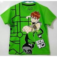 *Kaos Karakter Baju Anak Cowo Motif Kartun BENTEN 1-2 Thn*