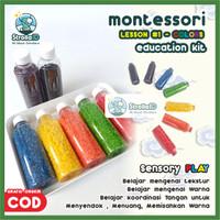 Sensory Play Montessori Beras Warna Mainan Edukasi Anak Bayi Baby Toys