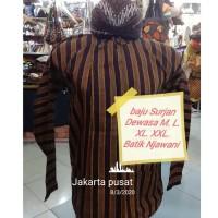 Baju Surjan Dewasa Lurik Adat Jawa Gratis Blangkon