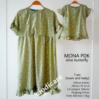 Mamigaya Baju Hamil Menyusui Mona Pendek Couple olive butterfly