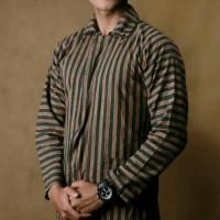 Baju kemeja Surjan Setelan dewasa/lurik /Batik jawa /pakaian adat jawa