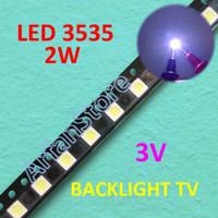 Led 3535 3V 2W Cold White Backlight TV Repair SMD Lampu Putih Terang