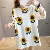 T Shirt Sunshine Sunflower Kaos Bunga Matahari Oversize