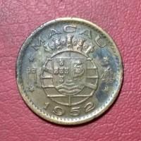 koin asing 10 avos macau Portugis 1952 TP 2570