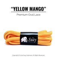 Tali Sepatu Bulat (OVAL) Premium Shoelace Yellow Mango Surabaya