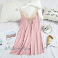 Kyrae - Sexy Lingerie Lace Satin Dress Babydoll Honeymoon