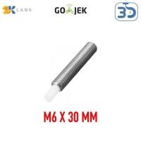 Reprap 3D Printer MK8 M6 x 30 mm Nozzle Throat