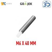 Reprap 3D Printer MK8 M6 x 40 mm Nozzle Throat