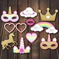 yayuanfeng Topeng Bentuk Kuda Unicorn Warna Pelangi untuk Pesta