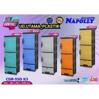 LEMARI PAKAIAN / LACI PLASTIK NAPOLLY SUSUN 4 KARAKTER