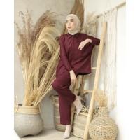 Setelan Tangan Panjang Piyama Katun Rayon Bangkok M L XL - Pajamas