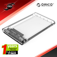 "Orico 2139U3 Transparent - Harddisk Enclosure 2.5"" SATA To USB 3.0"