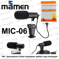 MAMEN Microphone MIC-06 Mini Shotgun Mic for Camera DSLR Smartphone
