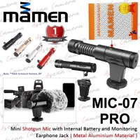 MAMEN Microphone MIC-07 Pro Mini Shotgun Mic for Camera & Smartphone