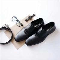Winshor Oxford Lington Black - Sepatu Kantor Pantofel Pria Premium