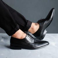 Winshor Linington Black - Sepatu Kantor Pantofel Pria Premium