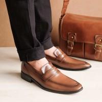 Winshor Grande Brown - Sepatu Pantofel Pria Premium - Coklat