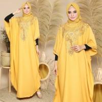 Baju Gamis Muslim Wanita Modern Kaftan Versa Gold Terbaru