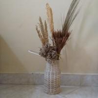 Vas Rotan Mini Natural Bleaching