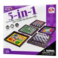 Permainan 5-in-1 dengan Papan Magnetik