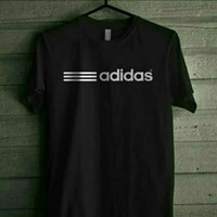 kaos oblong t-shirt Adidas Hitam keren m l xl xxl murah