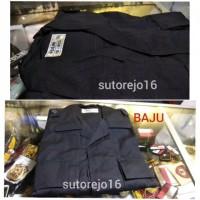Set baju celana seragam pdl hitam brimob asli jatah polri / satpam