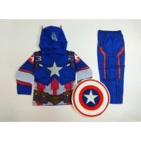 Kostum Superhero Anak Captain America III Baju Laki-Laki Superhero - 4