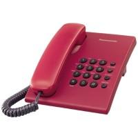Telepon Rumah / Kantor / Kabel Panasonic KX-TS500 - Red
