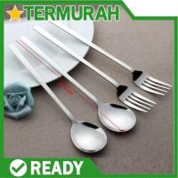 Sendok garpu korea stainless sujeo set makan spoon fork steel sus 304