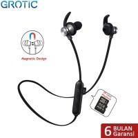 Headset Sport Wireless Bluetooth Magnet Stereo dengan Slot Kartu TF