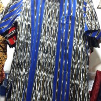 Kemeja/Baju motif Ulos Tobu-Tobu Lengan Pendek
