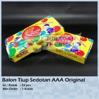 Balon Tiup Sedotan AAA Original 32 Pcs SNI / Mainan Balon Tiup AAA SNI