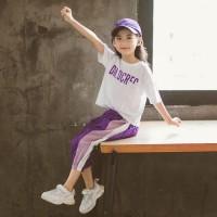 Baju Setelan Sporty Anak Perempuan 4 - 7 Tahun Import . PMI-1821