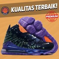 Sepatu Basket Sneakers Nike Lebron 17 Monstars Tunesquad Purple